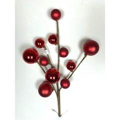 Tige boules rouges
