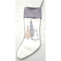 Bas de Noël gris naturel
