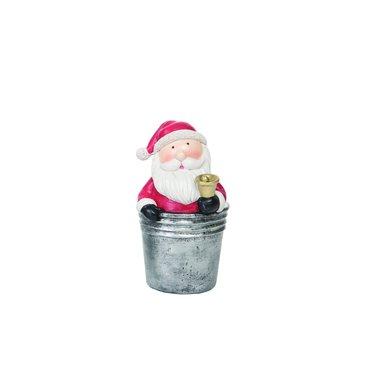 Père Noël dans seau avec cloche
