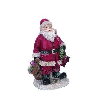 Père Noël avec sac et couronne