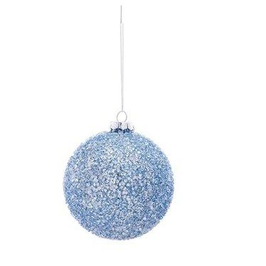 Boule verre bleue ronde