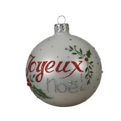 Signé Garneau Boule en  verre Joyeux Noël