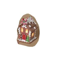 Maison en pain d'épices lumineuse  sapin