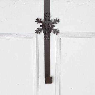 Support pour couronne métal brun rustique