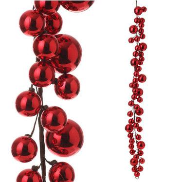 Guirlande boules rouges