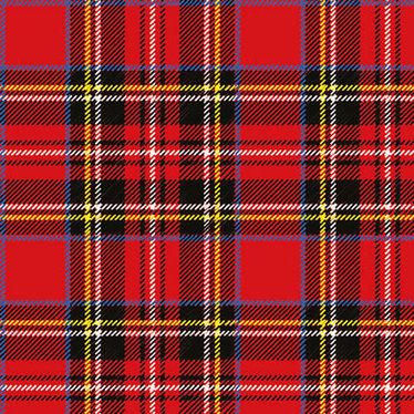 Serviettes de table carrées carreaux écossais
