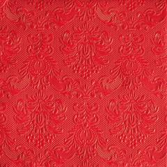 Serviettes de table carrées élégance rouge