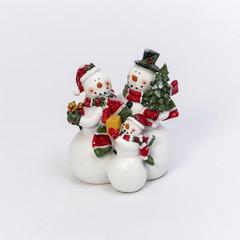 Famille bonhomme de neige