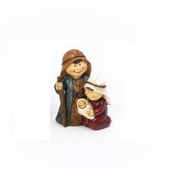 Signé Garneau Figurine pour crèche femme et enfant (rouge)