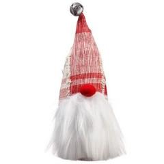 Gnome avec grelot rouge et blanc