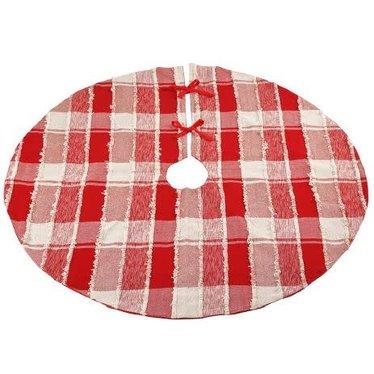 Jupe de sapin carreautée rouge et blanc