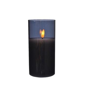 Signé Garneau bougie blanche verre blanc 15cm