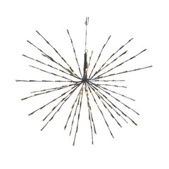 Étoile lumineuse DEL 72L classic fil noir (17 pouces)