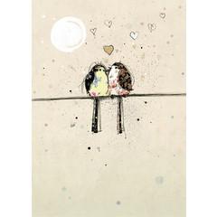 Carte - Oiseaux amoureux
