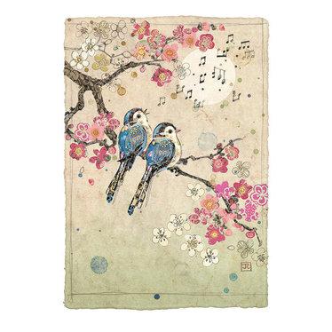 Carte - Oiseaux chantant
