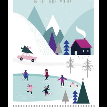 Carte - Noël patinoire