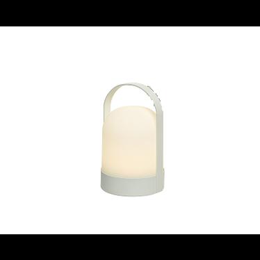 """Lampe à LED avec timer blanche pour extérieur 8"""""""