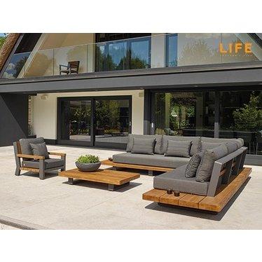 Life Outdoor Living Ensemble sectionnel Fitz Roy Teak
