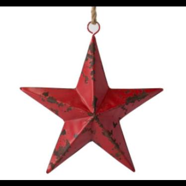 Étoile métal rouge 32cm