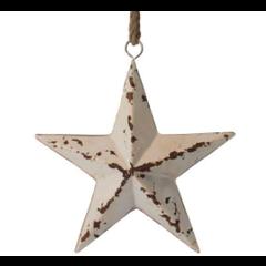 Étoile métal blanche 32cm