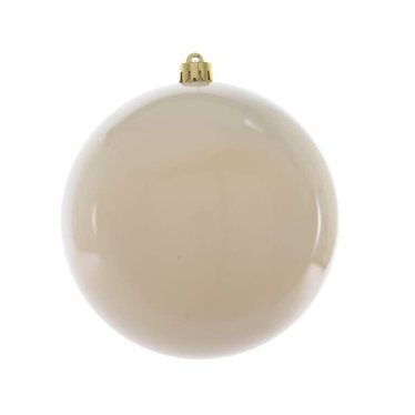 Signé Garneau Boule plastique blanc laine uni brillant 20cm