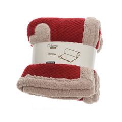 Signé Garneau Couverture rouge avec coeur blanc polyester