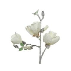 Signé Garneau Tige fleur magnolia blanche