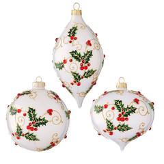 Boule Noël avec baies 4 pouces assorties