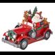 Père-Noël en voiture illuminé 14,75 pouces