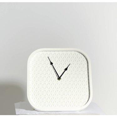 horloge carrée  blanche 27x3.5x27cm