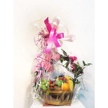 Panier de fruits & fleurs BB-002