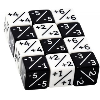 20x Counter Dice for Retailers. 10x Black, 10x White