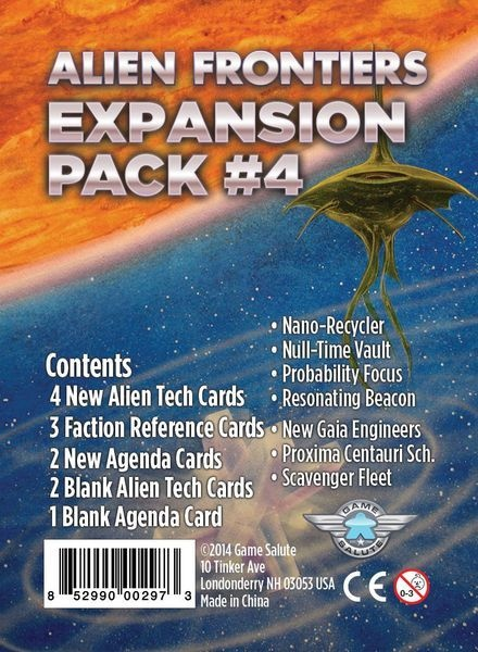 Clever Mojo Games Alien Frontiers: Expansion #4
