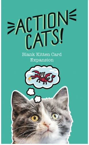 TWOGETHER STUDIOS Action Cats: Blank Kitten Card Expansion