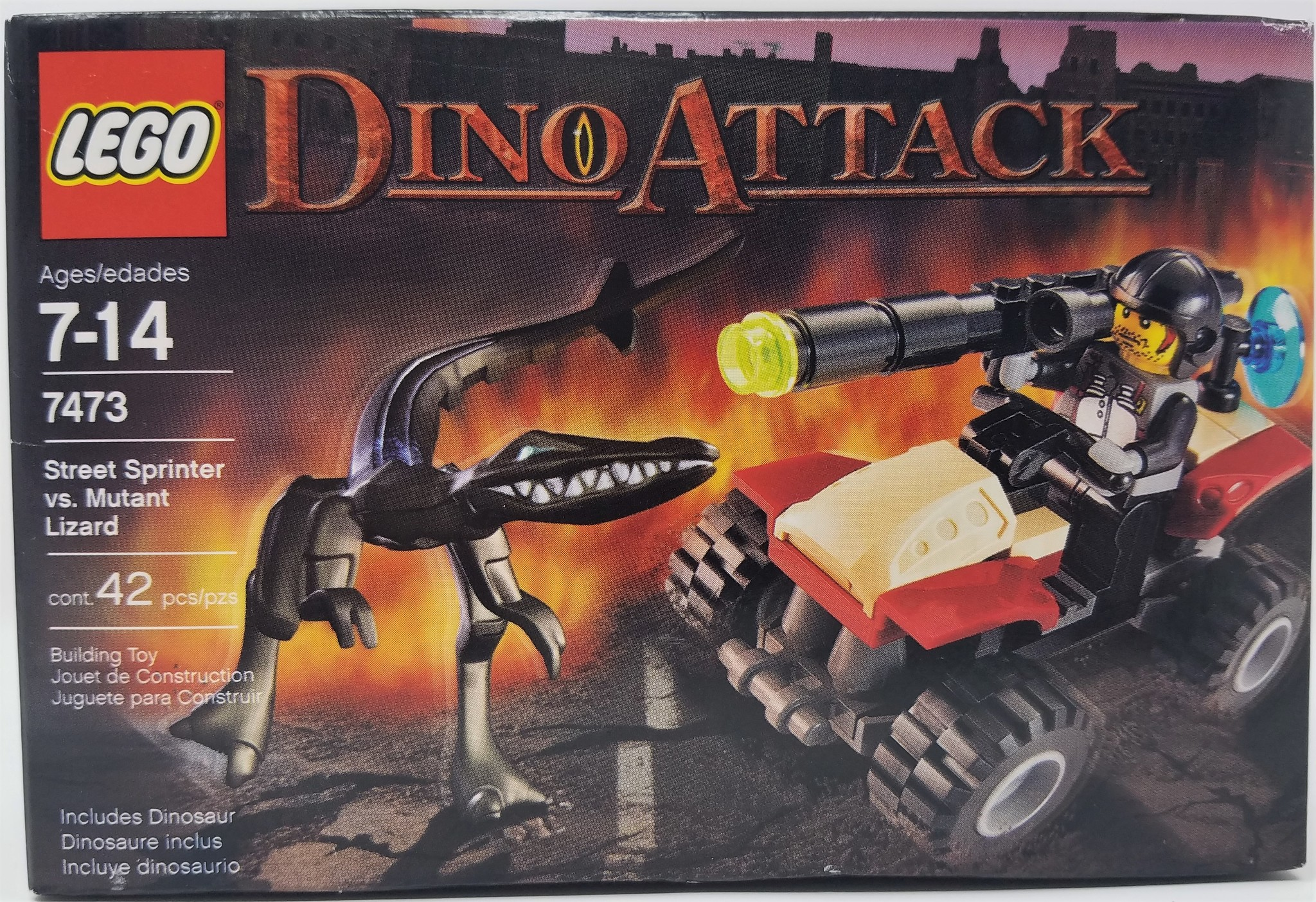 LEGO LEGO #7473 Dino Attack: Street Sprinter vs Mutant Lizard