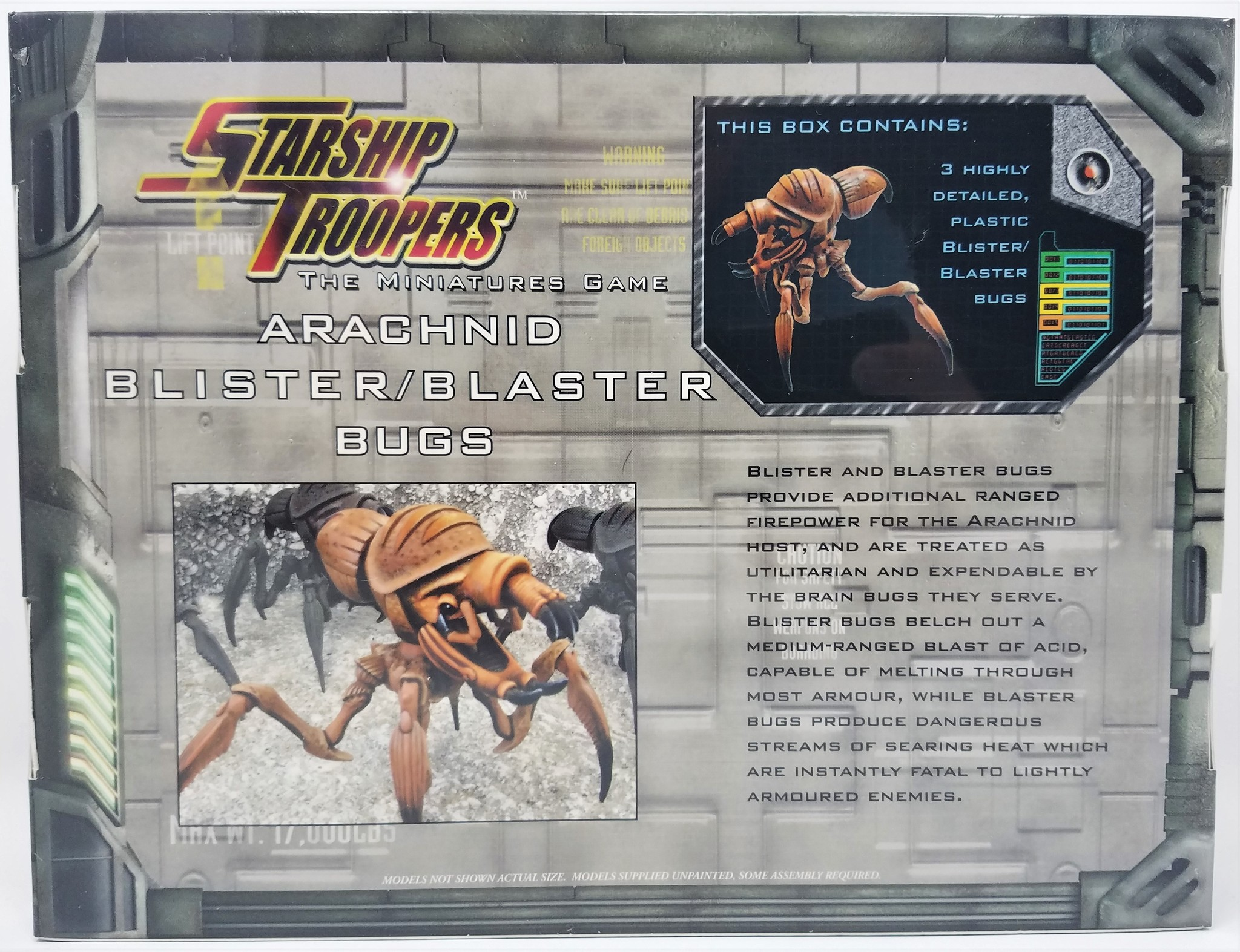 Starship Troopers Miniatures: Blister/Blaster Bugs