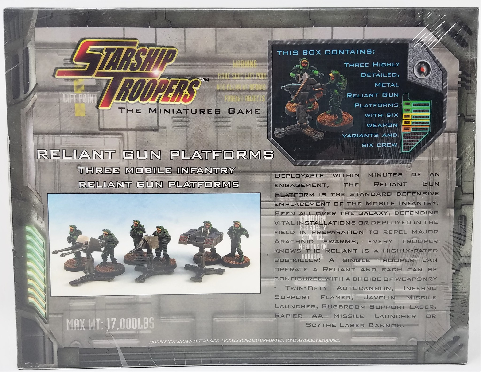 Starship Troopers Miniatures: Reliant Gun Platforms