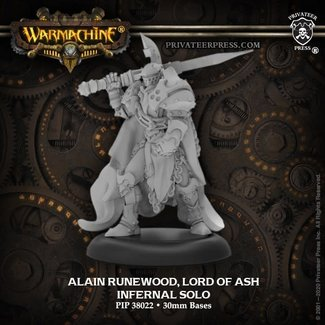 Privateer Press Warmachine Infernals Alain Runewood, Lord of Ash