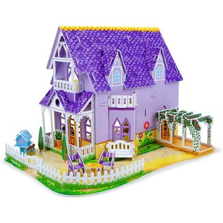 Melissa & Doug Purple Dollhouse 100 pc 3D Puzzle