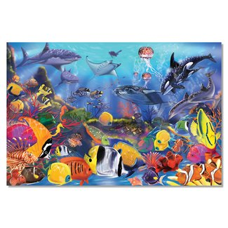 Melissa & Doug Underwater Floor Puzzle 48 pc