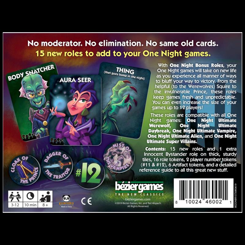 Bezier Games One Night Ultimate Bonus Roles