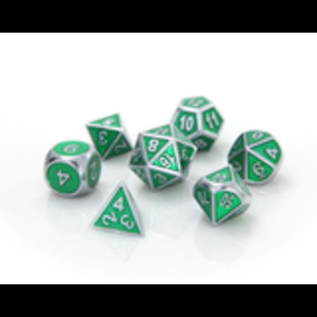 Gemstone Collection Silver Emerald - Die Hard Dice