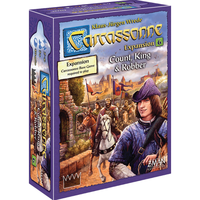 Z-Man Games Carcassonne Expansion 6: Count/King/Robber