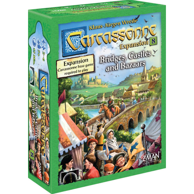 Z-Man Games Carcassonne Expansion 8: Bridges, Castles and Bazaars