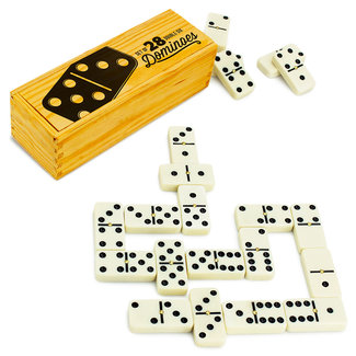 Double Six Dominoes with Brass Spinners