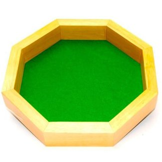 Wooden Octagon Dice Tray