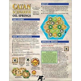Catan Studios Catan Scenarios: Oil Springs