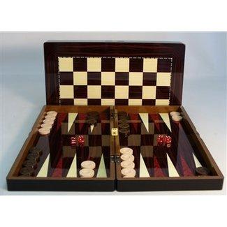 19'' Simple Wood Decoupage Backgammon