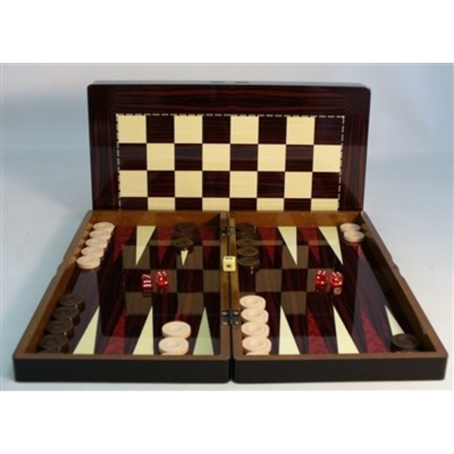 19'' Simple Wood Decoupage Backgammon
