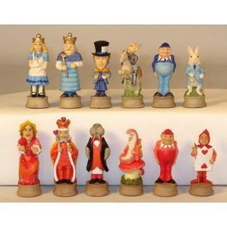 Alice in Wonderland Resin Chessmen